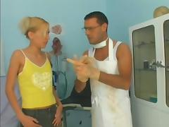Cute Blonde With Small Tits Get Hardcore Fucked By Crazy Doctor