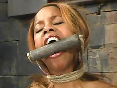 Lolana the skinny Black girl gets dominated in BDSM video