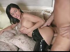 Sexy milf gives a titjob and gets her snatch fucked in all positions