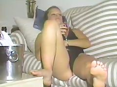 Hot Ass Lesbian Babe Licks Her Friends Cunt On The Sofa