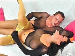 pantyhose lovers couple