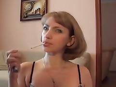 Babe, Amateur, Babe, Blowjob, Smoking, Sucking
