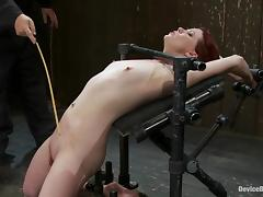 Lilla Katt gets her pussy toyed to orgasm in BDSM clip