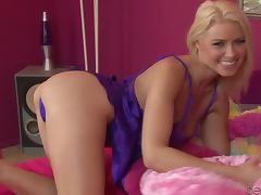 Beautiful Anikka Albrite shows her hot body in a bedroom