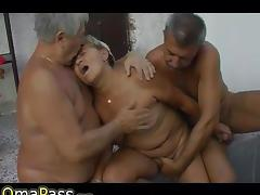Two old men fucking very old BBW Granny porn tube video