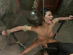 Device bondage for a slutty siren Bailey Brooks porn tube video