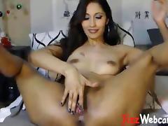 Latina, Amateur, Dildo, Double, Latina, Masturbation