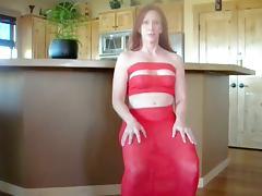 Redhead milf enjoys ardent anal sex in the kitchen