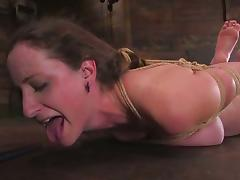 Lady Kat gets her meaty pussy stuffed with toys in BDSM scene