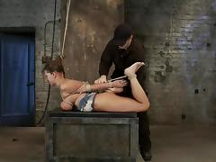 Big tittied Trina Michaels gets whipped by her master
