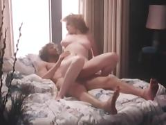 Vintage scene with natural-tit model