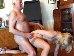 Old grandpa fucks young blonde porn tube video