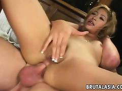 Petite babe Kat gets her ass destroyed
