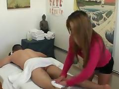 This Asian whore loves to give a great massage and earn some big tips