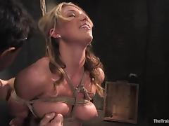 Bound, BDSM, Blonde, Bondage, Bound, Dildo