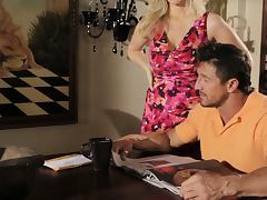 Julia Ann Gives Her Lovers Some Cushion for the Pushin!