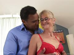 Granny Relives her Youth by Taking Some Big Black Cock