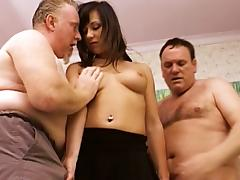 Threesome, Amateur, Brunette, Double, MMF, Reality