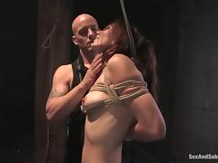 Delilah Knight gets het ass beaten and her pussy fucked hard