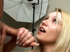 Nasty blonde chick drives her man crazy with a hot handjob tube porn video