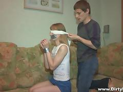 Blindfolded, Babe, Blindfolded, Russian, Skinny, Small Tits
