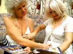 Two Nasty Grannies Are Sharing One Huge Plastic Dildo