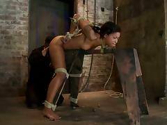 Skin Diamond Tied in Doggystyle Position for Crazy Toying Bondage Session tube porn video