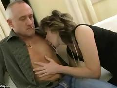 Grandma gets fucked rough tube porn video