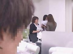 Japanese office lady fucks every colleague