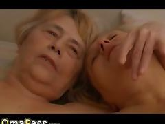 Two old Grannies masturbate together on the c tube porn video