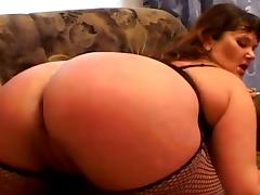 Mature bitch Denise gets her mouth and cunt fucked deep