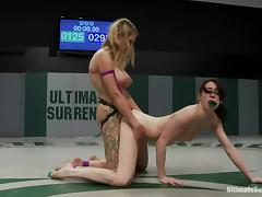 Rough catfight with Aiden Ashley and Rain DeGrey tube porn video