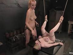 Busty Bruentte used as a Sex Toy by Annette Schwarz is Lesbian BDSM porn tube video