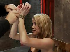 Aiden Aspen gets her tits clothespinned and pussy toyed