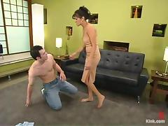 Mitch West gets mercilessly whipped and fucked in BDSM video