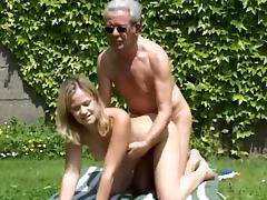 Luigina is fucking with gray old man Hans in doggy style