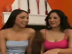 We got two horny chicks in this FFM threesome who are fucking like a couple of animals in heat porn tube video