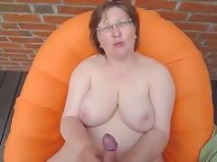 Granny Handjob #3 (On The Porch)