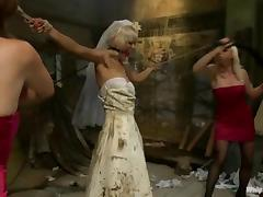 Spanking, BDSM, Blonde, Bondage, Bride, Dress