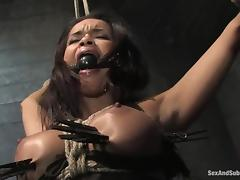 Daisy Marie gets her mouth and pussy fucked like never before in BDSM vid tube porn video