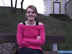 PublicAgent: Meggie seetles for Sex for Cash behind the church