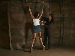 Bound Skin Diamond gets her titties tortured with pumps tube porn video