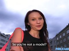 PublicAgent: Skinny brunette is fucked next to a river tube porn video