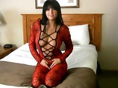 Fabulous Brunette Wearing Unforgettable Lingerie Has An Erotic Moment