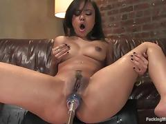 Annie Cruz gets her juicy ass fucked hard by a sex machine porn tube video