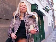 An Amazing Blonde Goes Hardcore For Money In Public