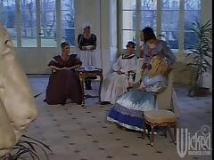 Brunette girl gets ass fucked in a historical video