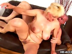 Mature blonde bitch gets her cunt fisted and fucked hard