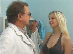 Blonde Babe Goes To Her Doctor To Check Her Wet Pussy