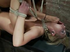 Hot Tara Lynn Foxx gets hog tied and fisted by Isis Love tube porn video